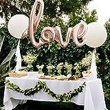 LianLe LOVE Folienballon für Geburtstags Hochzeits Party Dekoration, 106x65cm (Champagner)