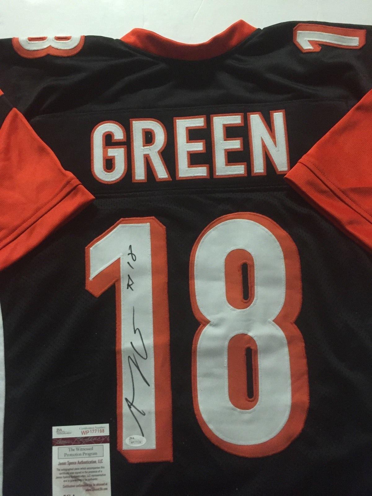 Autographed/Signed AJ A.J. Green Cincinnati Black Football Jersey JSA COA