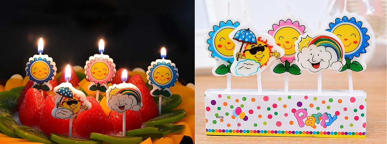 T-shin - Juego de Velas con diseño de Flores y Nubes ...