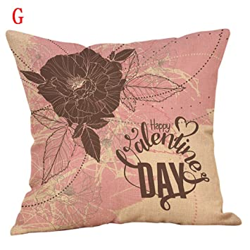 Lywey 2019 Fashion Happy Valentines Day Throw Pillow Case Sweet Love Square Cushion Cover