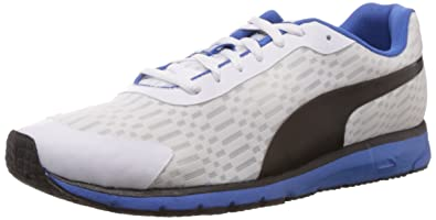 fa73f624112 Puma Men s Narita v3 Speed White-White-Black Mesh Running Shoes - 13UK