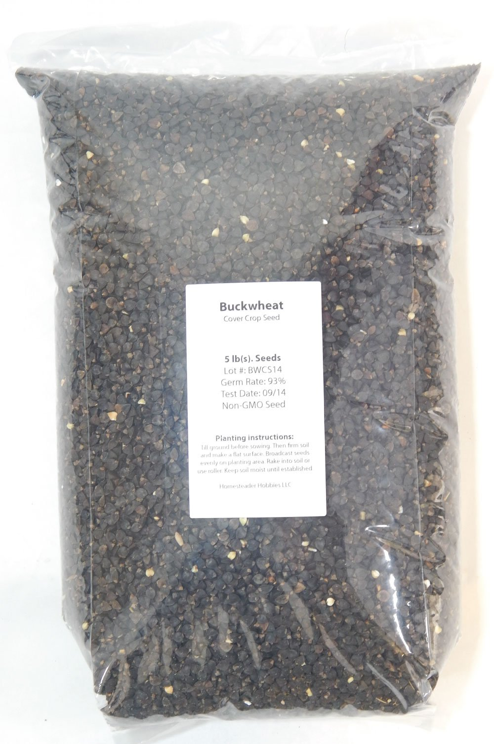 Buckwheat Seeds: Untreated, Non-GMO, 10 lbs. by Homesteader Hobbies (Image #1)
