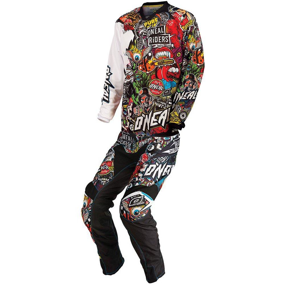 O'Neal - Mayhem Crank Black/Multi Jersey Pant Combo - Size SMALL/30W
