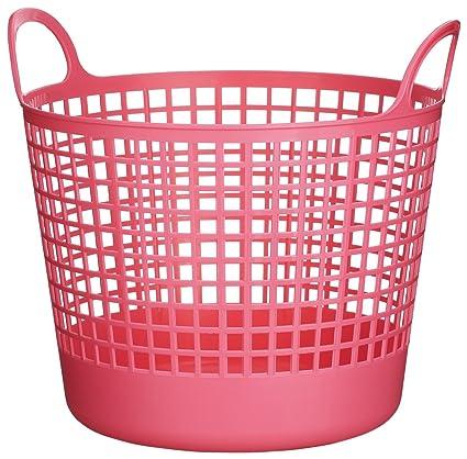 Pink Plastic Laundry Basket Beauteous Amazon LikeIt SCB60 Plastic Round Laundry Basket 60460Inch H