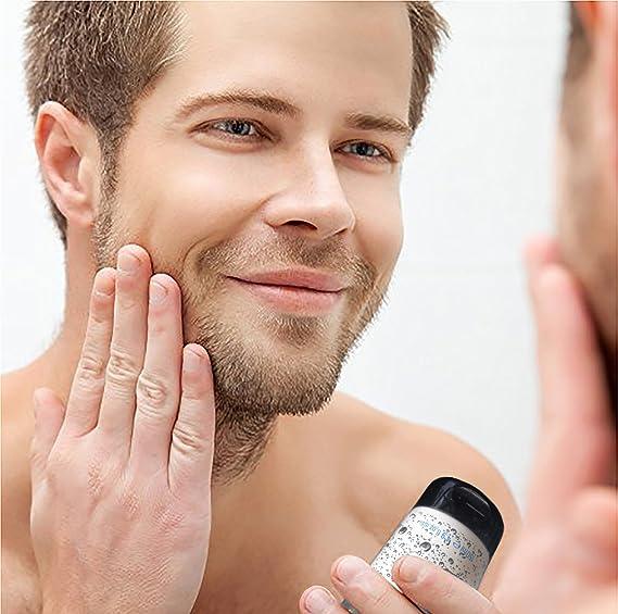 Carbón para hombre para limpieza facial y corporal - carbón antibacteriano para acné, puntos negros, piel rugosa - limpieza suave y profunda de piel seca, ...