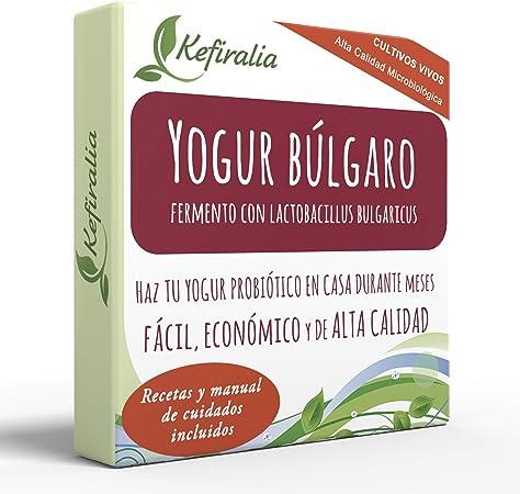 Cultivos de yogur – Bolsitas de cultivo liofilizado para preparar yogur simple estilo balcánico (paquete de 5 bolsitas): Amazon.es: Alimentación y bebidas