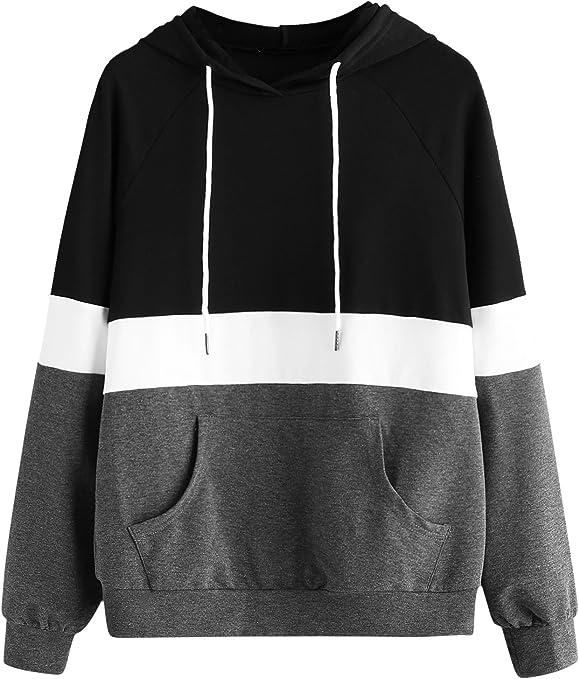 Long Sleeve Drawstring Pullover Hoodie Sweatshirt