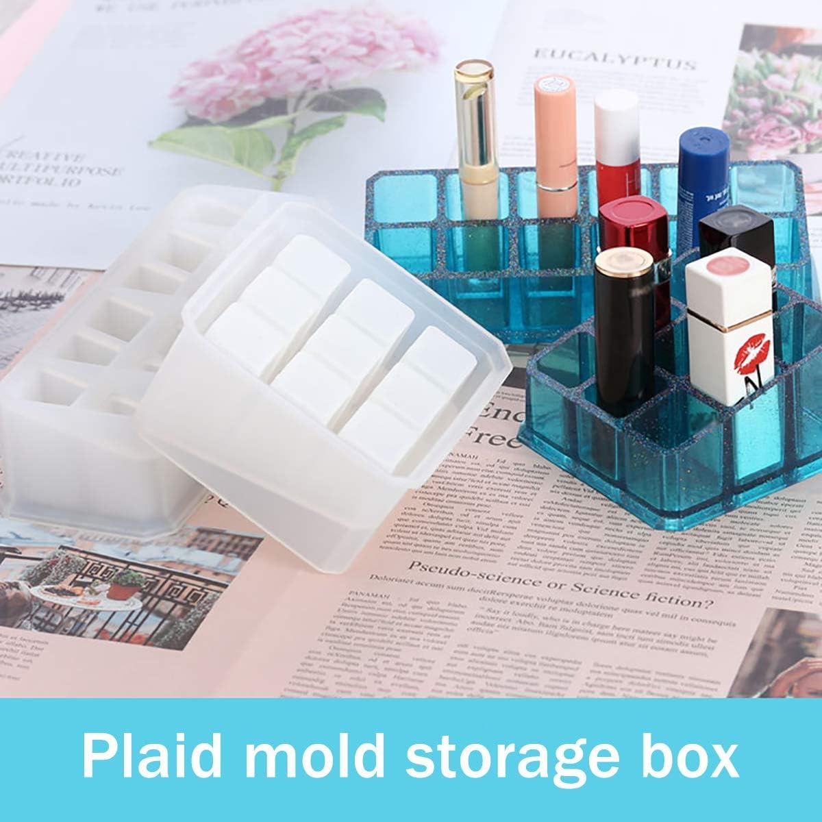 Hexagon Mold iSuperb Silicone Resin Mold Jewelry Storage Box Mold Hexagon Epoxy Mold for Making Trinket Box DIY Craft Decoration