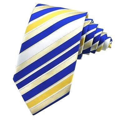 PenSee - Corbata de seda para hombre, diseño de rayas, varios ...