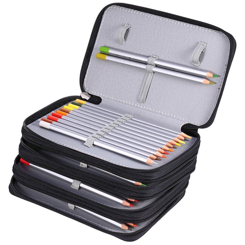 bolsa de l/ápices de colores funda con gran capacidad organizador de l/ápices Oxford papeler/ía ZJchao 72/piezas estuche multicapa