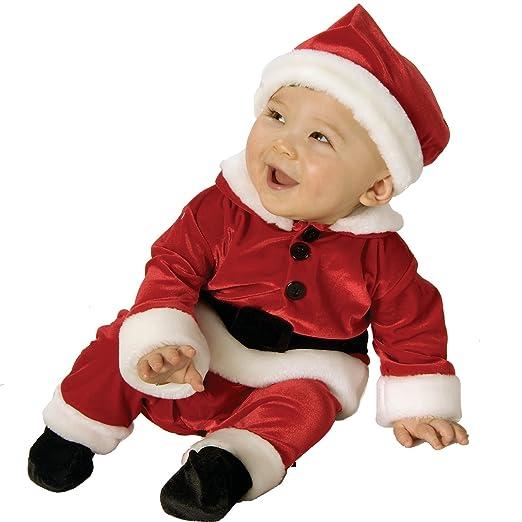 New Childs Red Velvet Santa Baby New Born Costume 0-6m