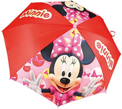 Minnie Mouse niños paraguas Ø 90cm paraguas lluvia paraguas girls, Farbe:Rot