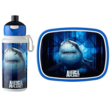 639b5cf1c51e Rosti Mepal Childs Lunch Box and Pop Up Drink Bottle, Shark Animal Planet
