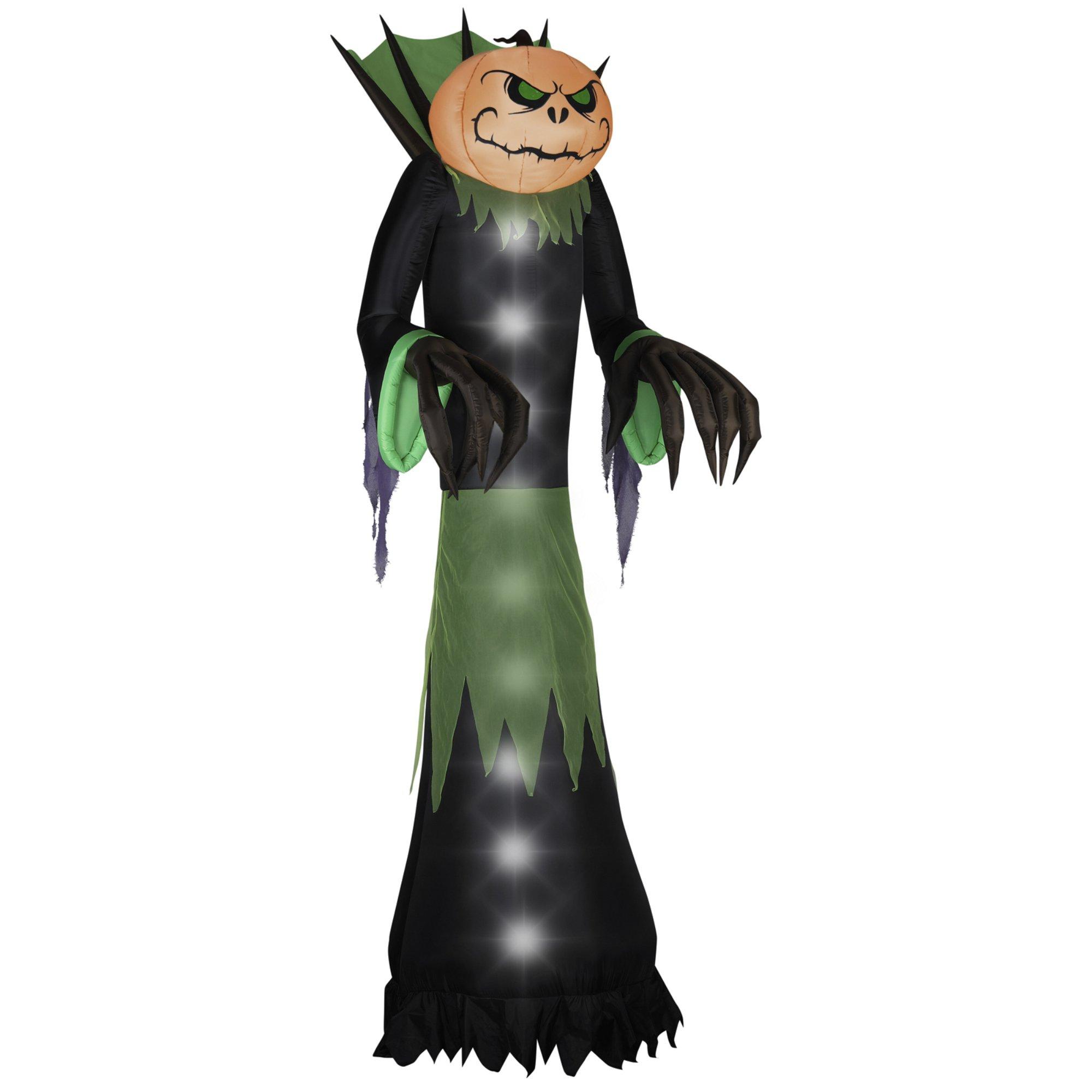 Gemmy Airblown Halloween Pumpkin Head Reaper, 14-Feet