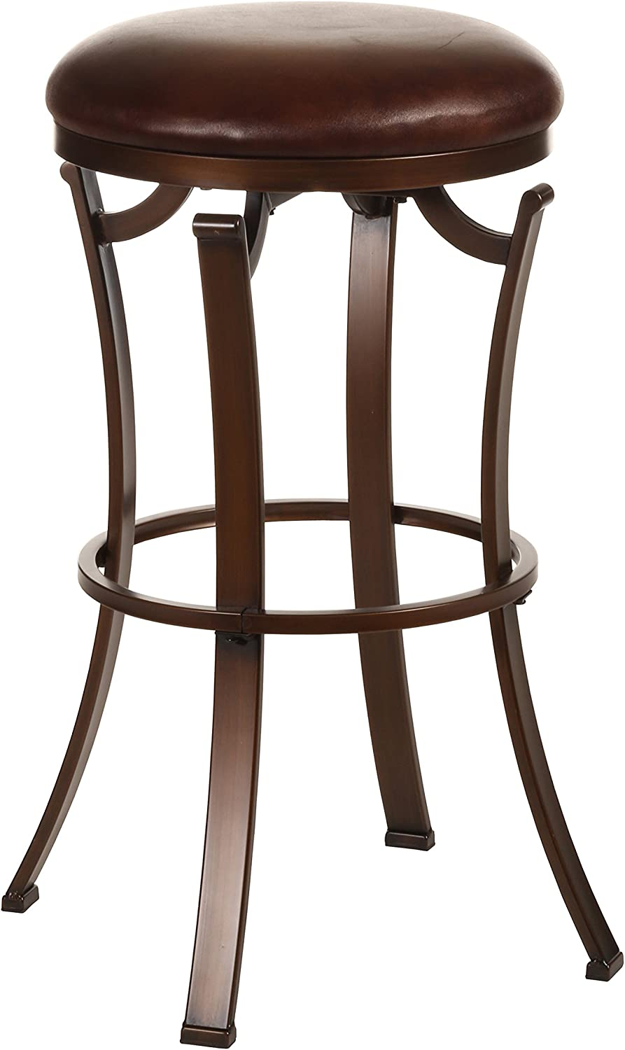 Hillsdale Kelford Backless Swivel Bar Stool, Antique Bronze