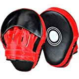 Wuudi New Item Essential Curved Boxing Gloves MMA Punching Mitts for Kickboxing, Muay Thai, Sparring