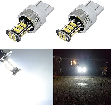 2pcs 7440 7441 T20 30-SMD Super Blue LED Daytime Running Light Bulbs DRL Lamps
