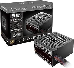 Thermaltake Toughpower GX1 80+ Gold 500W SLI/CrossFire Ready Continuous Power ATX 12V V2.4/EPS V2.92 Non Modular Power Supply 5 Year Warranty PS-TPD-0500Nnfagu-1