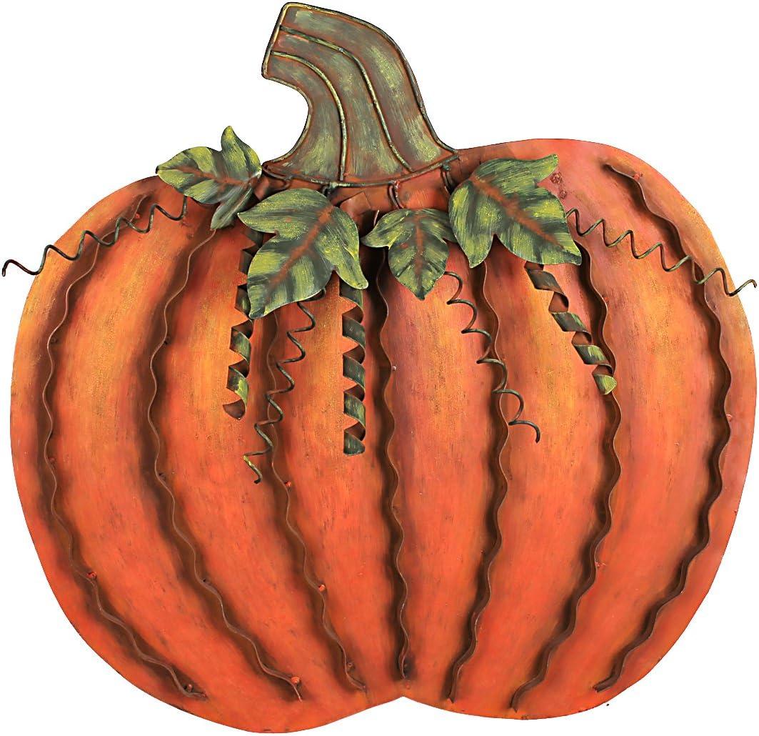 Grace Home Metal Pumpkin Fall Harvest Decor Thanksgiving Free Standing Pumpkin Decoration