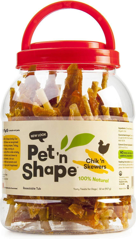 Pet 'n Shape Chicken Dog Treats, Chik 'n Skewers, 32 Ounce, 12 Pack