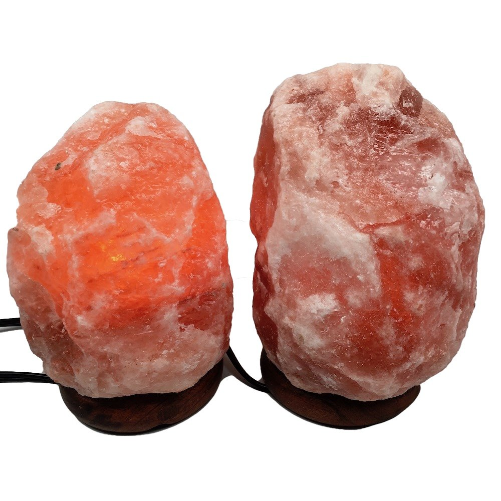 2x Himalaya Natural Handcraft Rough Raw Crystal Salt Lamp,7''-8''Tall, X045, Exact Item Delivered