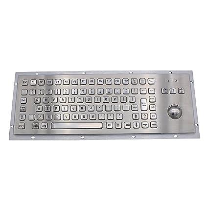 Teclado industrial de metal con balón de fútbol IP65 Kiosk de acero inoxidable con teclado USB