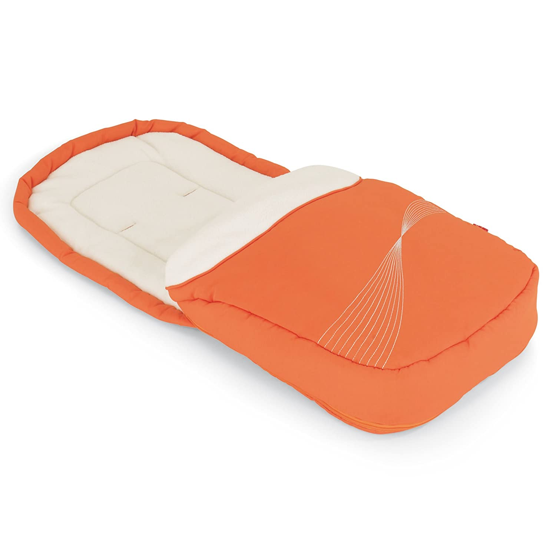orange//creme Herlag H9527-2220 Fu/ßsack f/ür Buggy Ravenna