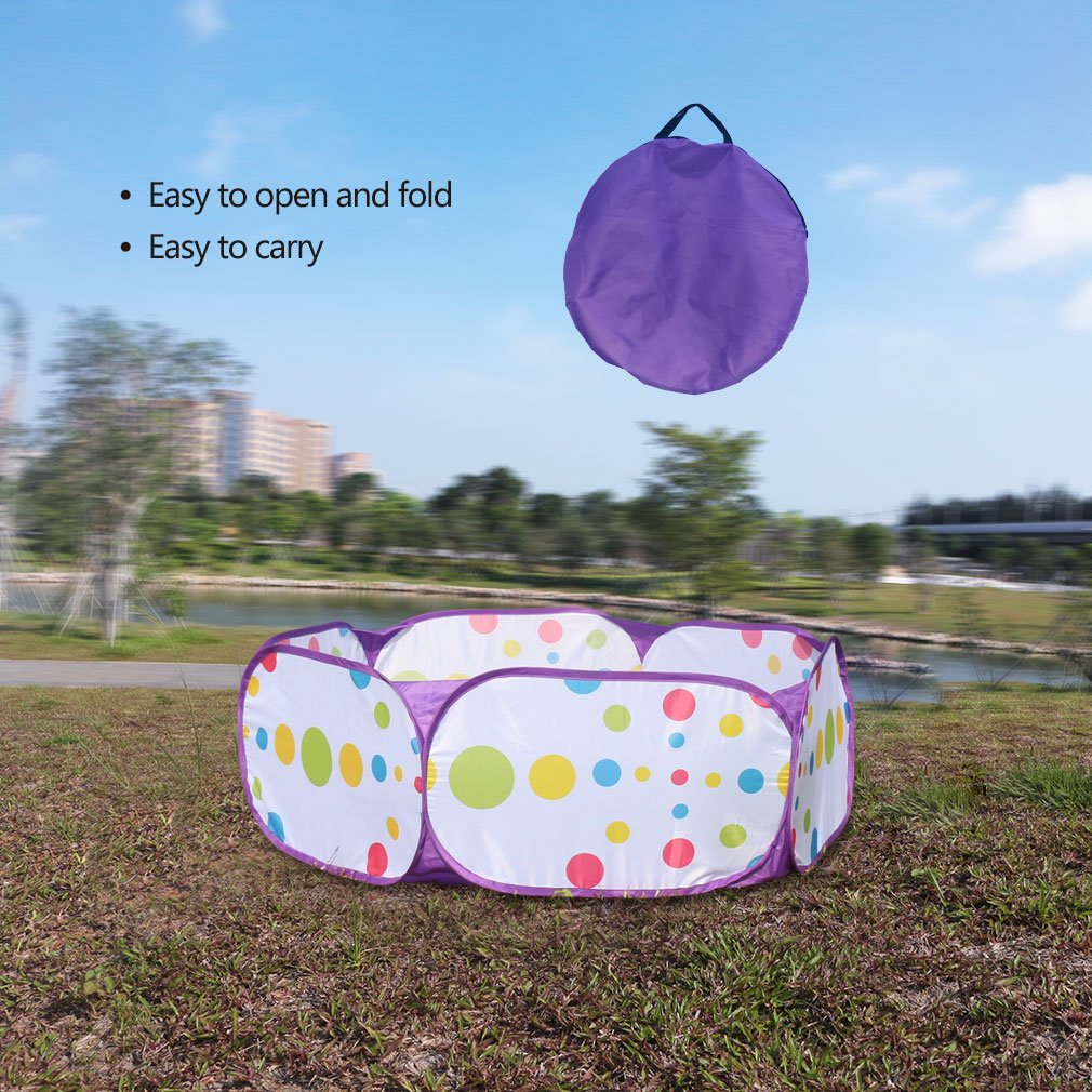 Kids Ball Pit, Karida Large Pop Up Toddler Ball Pits Tent for Toddlers, Children for Indoor Outdoor Baby Ball Pool Playpen with Zipper Storage Bag, Balls Not Included (Purple) by Karida (Image #9)
