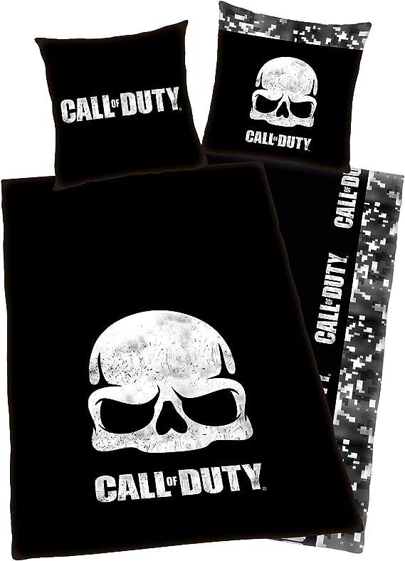 Poliestere 100/x 150/cm Call of Duty Coperta in Pile Nero