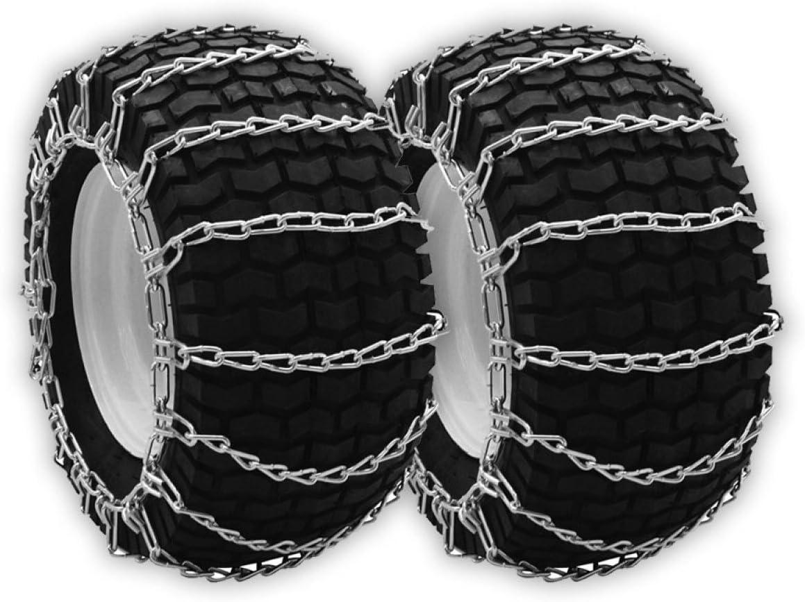 OakTen スノータイヤチェーン 2個セット 芝刈り用トラクター スノーブロワー Repl Husqvarna 531 030 116 531030116 (13インチ x 4インチ x 6インチ)