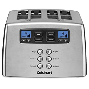 Cuisinart Toaster - 4-slice - Brushed - Leverless
