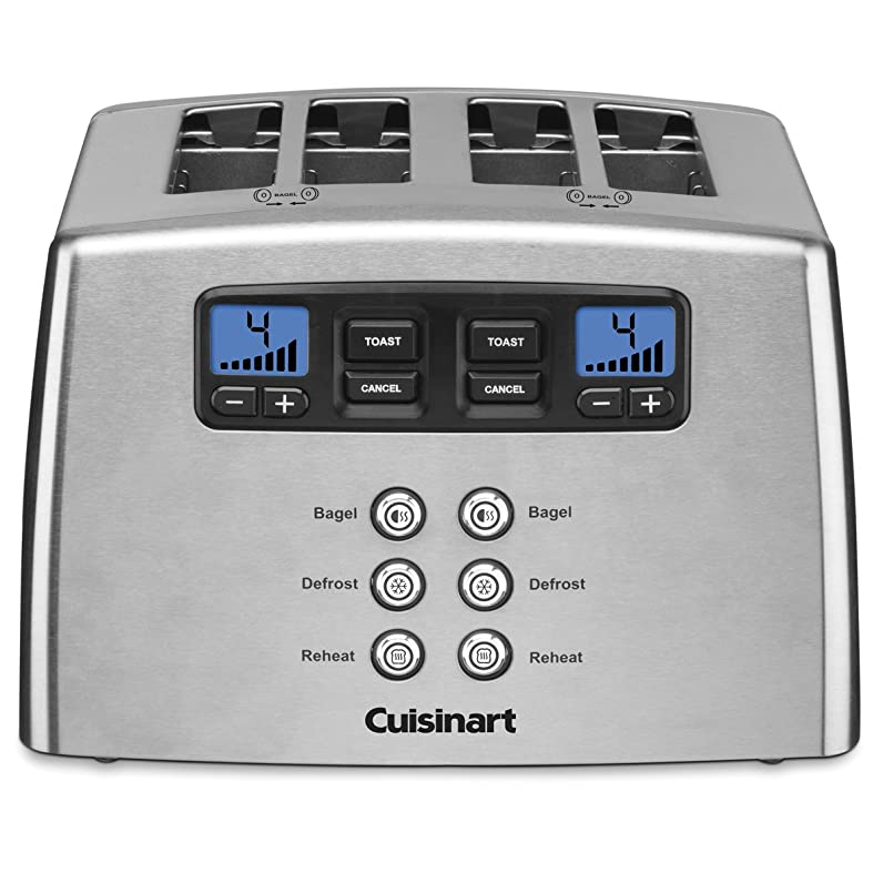 Cuisinart CPT-440C 4-Slice Touch To Toast Leverless Toaster Silver ...