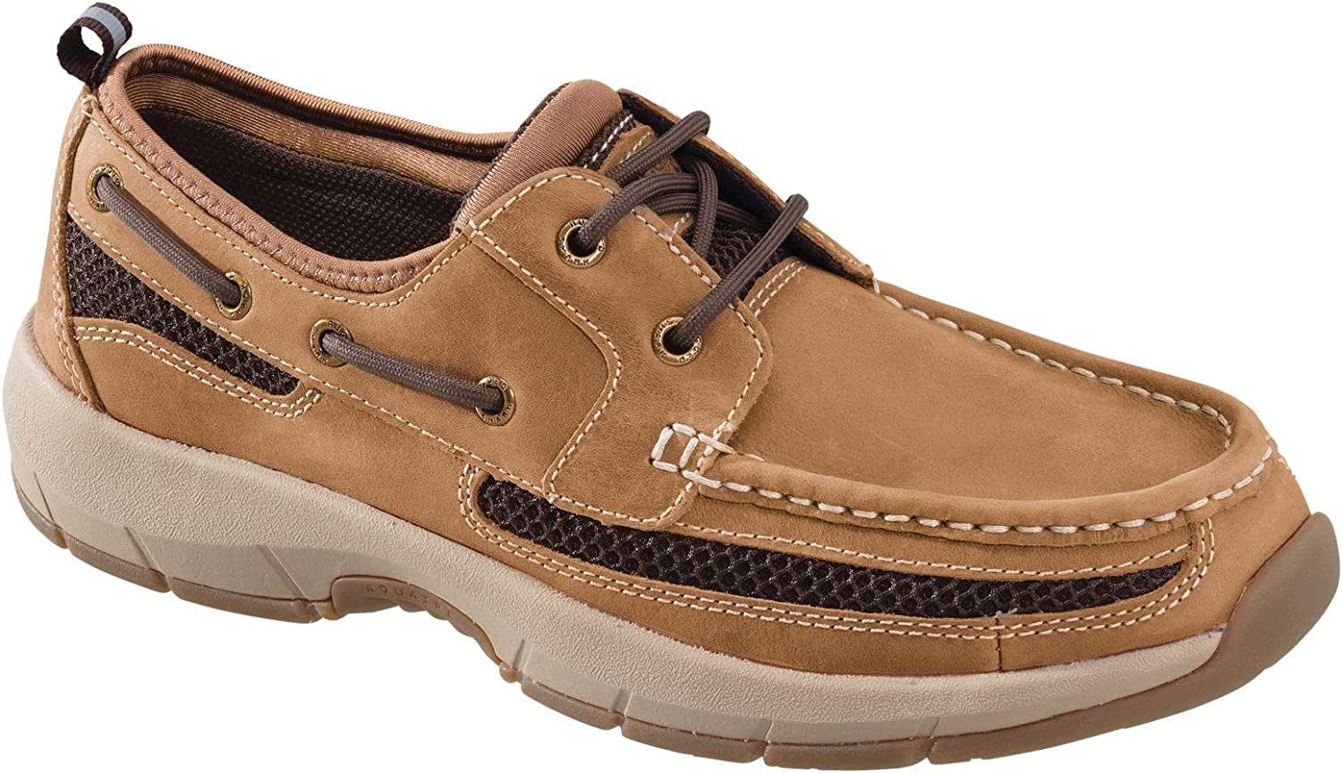 Rugged Shark Men's Boat Shoe, Premium Leather and Comfort, Meridian, Men's Size 8 to 13