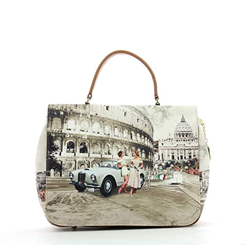 c0d36cea5e Borsa Y Not tracolla Roma Life - J333 Tweet: Amazon.it: Scarpe e borse