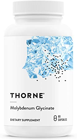 Thorne Research - Molybdenum Glycinate - Trace Mineral Supplement for Liver Support and Detoxification of Environmental Toxins - 60 Capsules