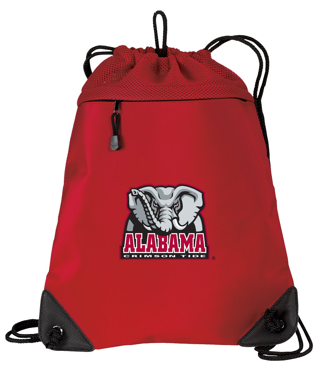 Broad Bay Alabama Drawstring Backpack Bag University of Alabama Cinch Pack - UNIQUE MESH & MICROFIBER by Broad Bay (Image #1)