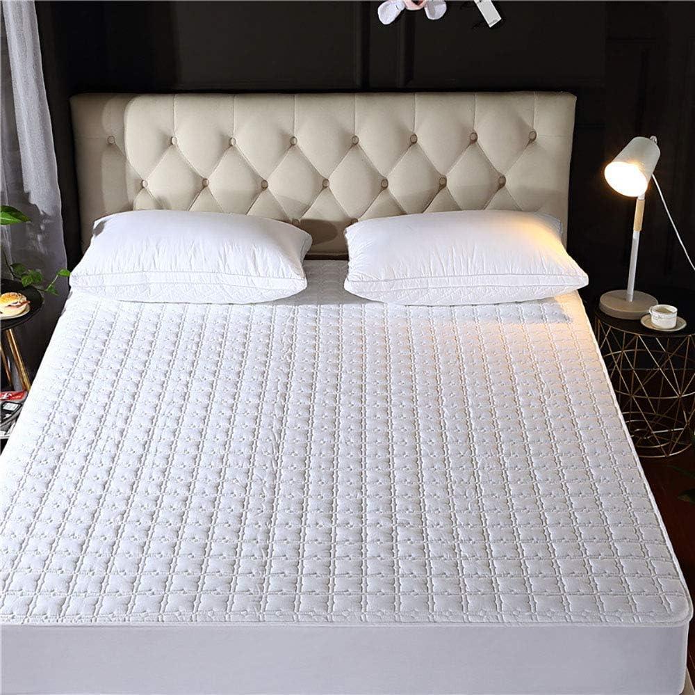 NBVCX Inicio Accesorios Protector de colchón Blanco Protector de colchón Impermeable Fibra antibacteriana King Size