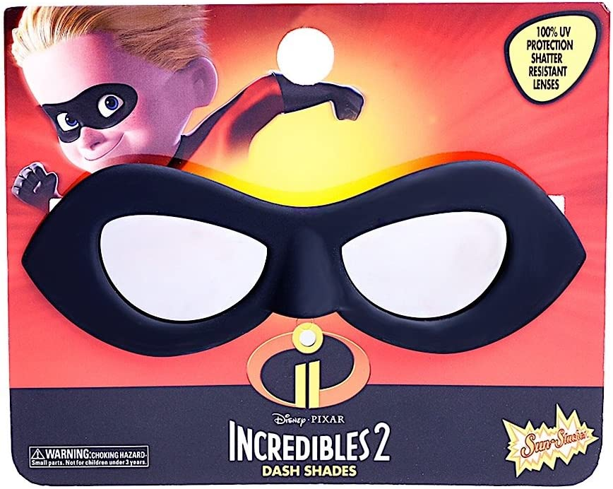 Sun-Staches Costume Sunglasses Lil' Characters Incredible Dash Party Favors UV400, Black/Red