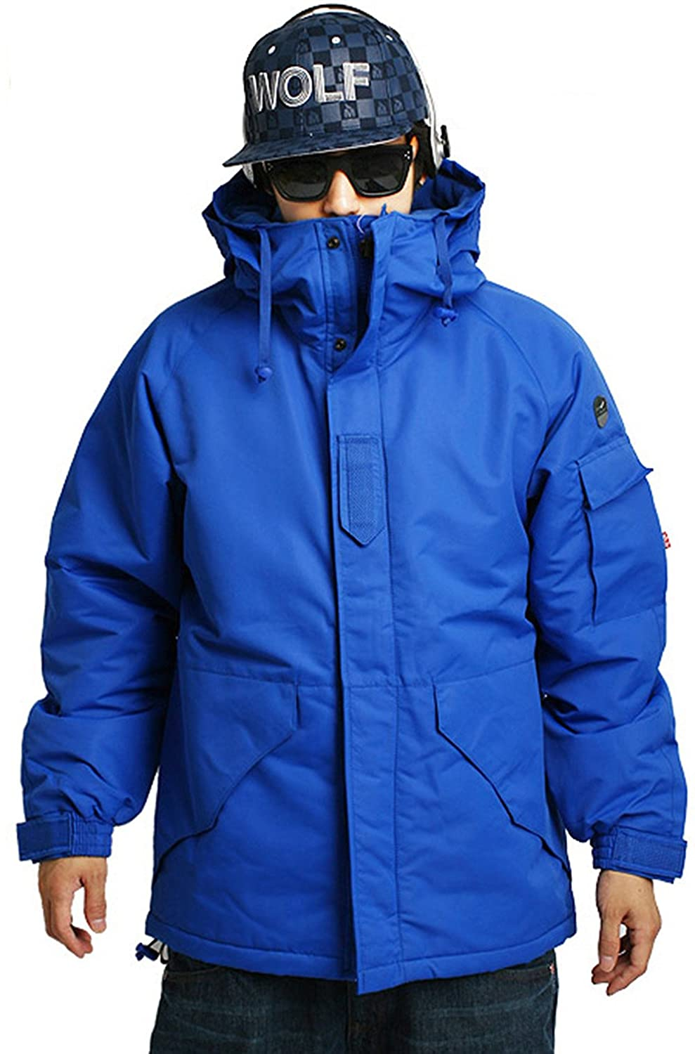 Mens SOUTH PLAY Waterproof Ski SnowBoard Wear Jacket Jumper SOLID BLUE