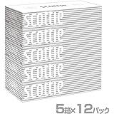 日本製紙クレシア スコッティ (SCOTTIE) ティッシュペーパー 200組5箱×12パック(60箱) 41735*12