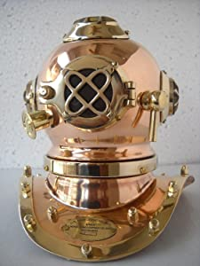Antique Reproduction Sea Diver Decorative Diving Helmet Desk Nautical Replica