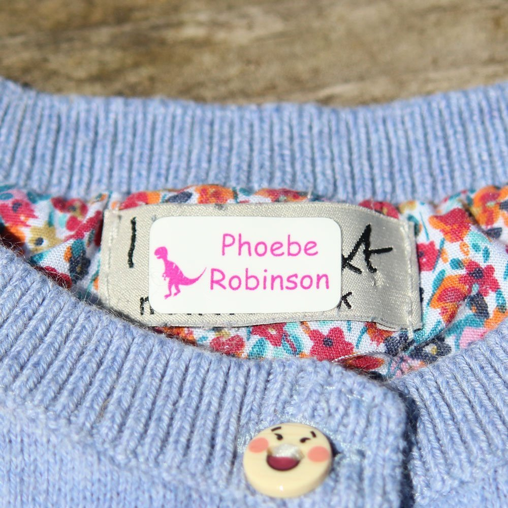 Stick 'n Wash No-Iron Self Adhesive Name Labels to go in Clothing or on Property (120 Labels) by Label Weavers
