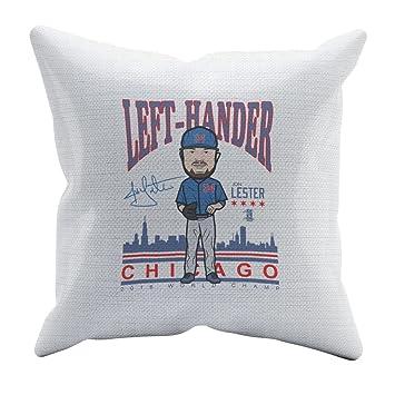 500 nivel de Jon Lester suave y cómodo manta almohada para ventiladores de Béisbol Chicago C