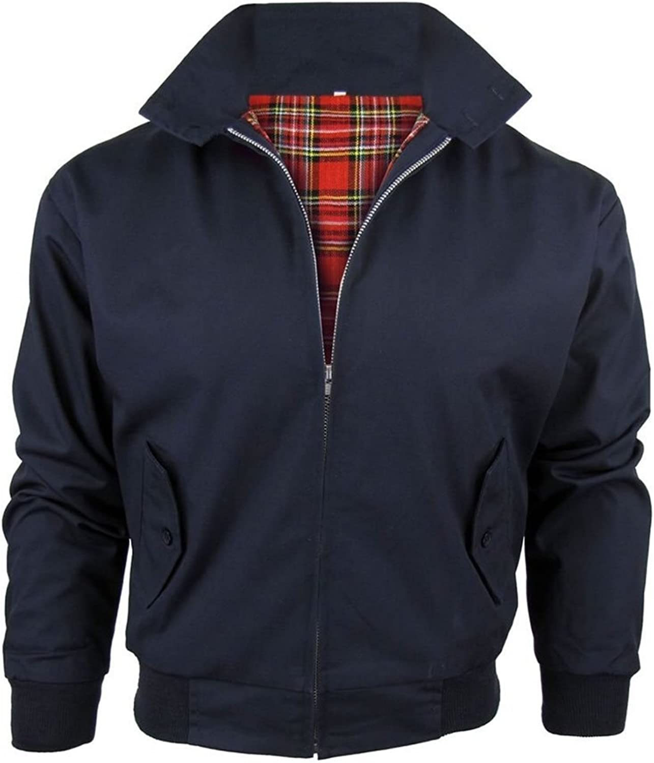 Global Attire Vintage Childrens//Boys//Kids Classic Harrington Jacket with Tartan Lining
