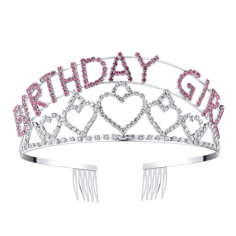 Metal Rhinestone Inlaid Headband Birthday Girl Hair Hoop Party Crown Supplies Fw