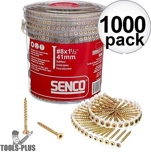 Senco 08f150y 8 Gauge 1 1 2 In Collated Flooring Screws 1 000
