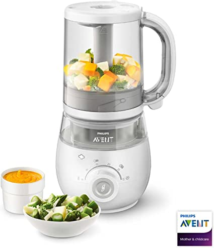 Philips Avent Scf87501 4 In 1 Baby Food Maker Steamer And Blender With Easy To Use Reheating Or Defrosting Functions
