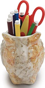 """Thanksgiving Christmas Day Best Gifts - 5"""" Ceramic Pen Pencil Holder Stand Multi Purpose Use Pencil Cup Desk Organizer Cooking Utensil Holder for Home Office Artificial Planter by abhandicrafts"""