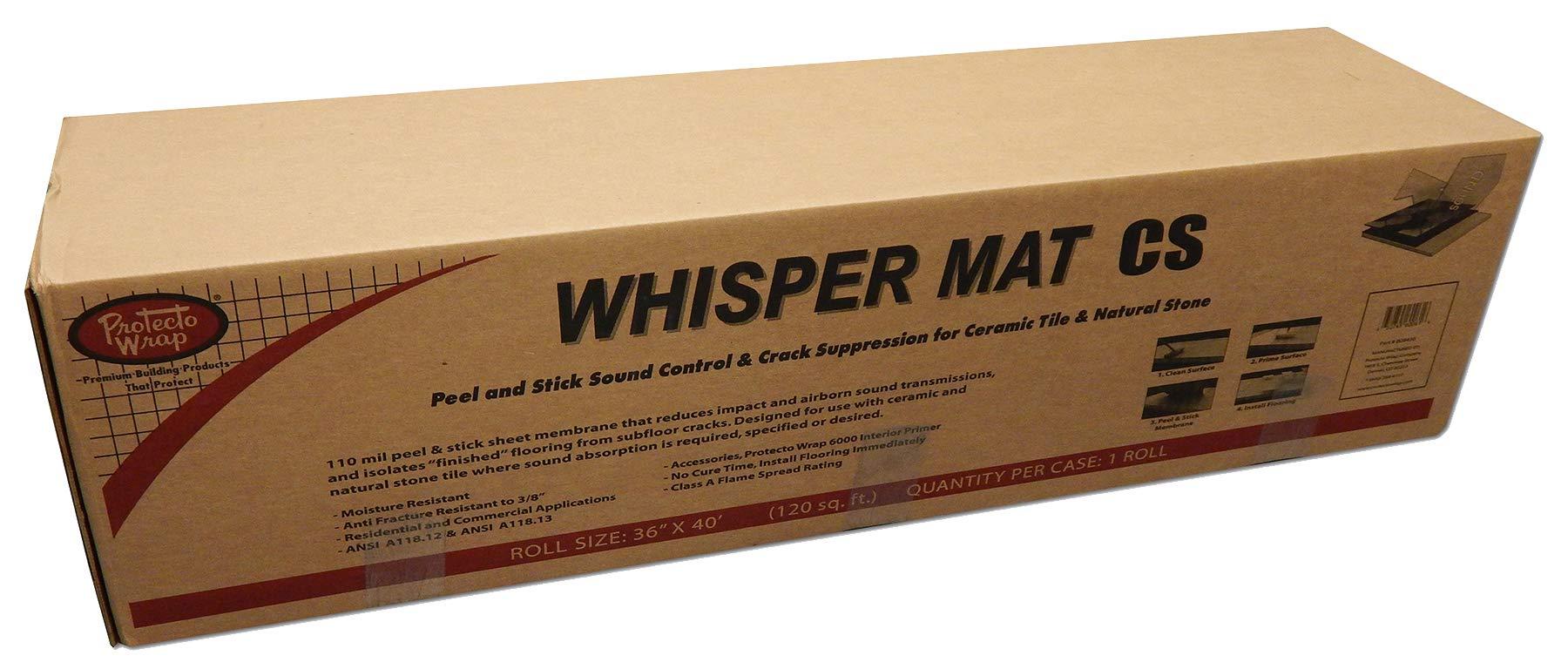 Tile Floor Impact Mat (Whispermat-CS) 1/8'' thick 36'' Wide 40' Roll- (120 Sq. Ft.) For Tile