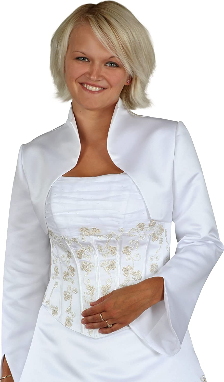 Bolerojacke Jacke Bolero Brautbolero mit Stehkragen für Hochzeit ...